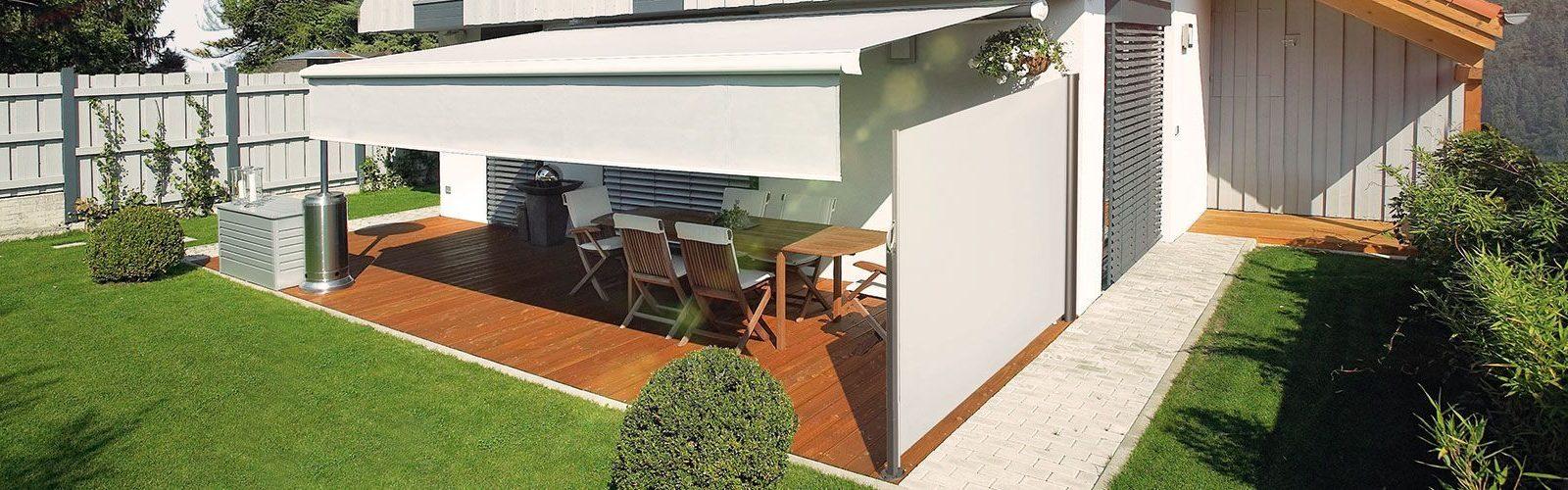 Seitenmarkise Terrasse Als Sicht Windschutz Gebr Wiedey