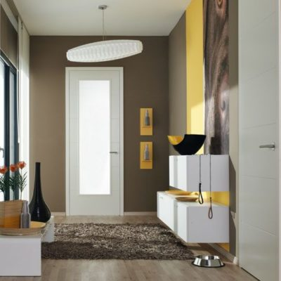 Flächenvorhang im Hausflur als Sichtschutz