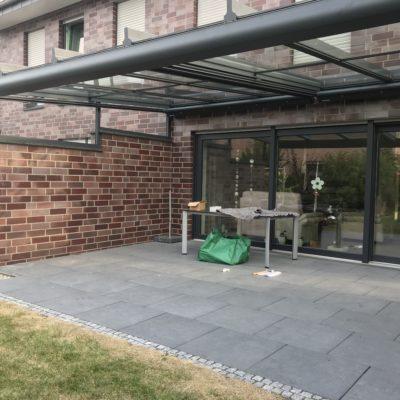 Terrassendach mit Unterbauelement