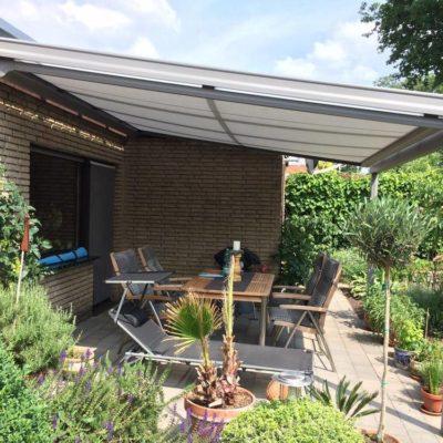 Aluminium Terrassendach mit VSG Glas