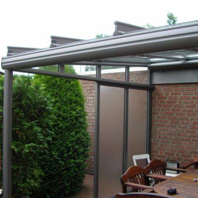 Terrassendach mit Unterbauelemente